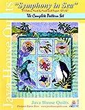 Symphony in Sea Java House BOM Sealife Mermaid Quilt 7 Pattern Set Karen Brow