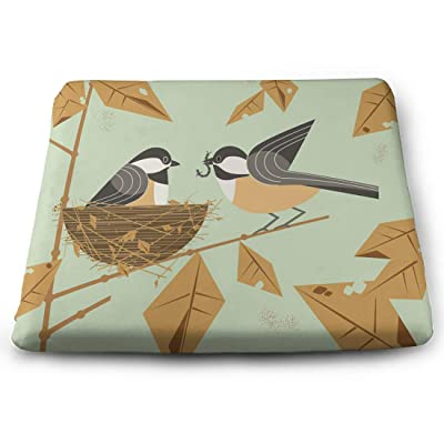 Tinmun Square Cushion, Chickadee Bird Couple Cute Comic Large Pouf Floor Pillow Cushion for Home Decor Garden Party: Home & Kitchen