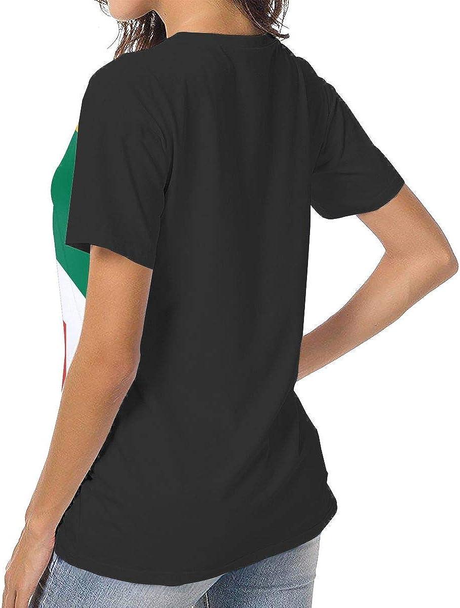 IRON1974 Womens Flag of South Africa Short Sleeve T-Shirt Baseball Tees