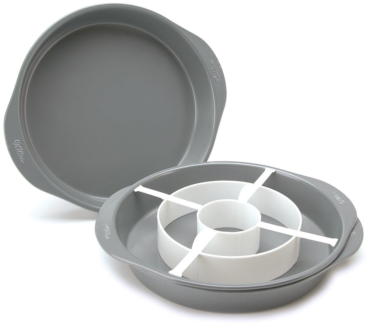 Wilton backformen-Set f/ür Runde Schachbrettkuchen 4-Teilig