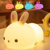 YingStar Luz Nocturna Infantil Lámpara Quitamiedos Portátil USB Recargable Lámpara Infantil LED Brillos Ajustables…