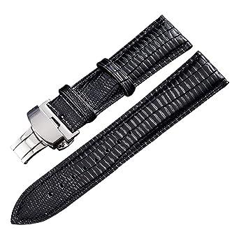 Amazon.com: Correa de reloj de cuero genuino para hombres y ...