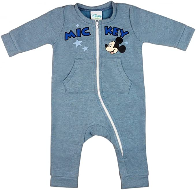 Strampler SCHLAFANZUG Baby Anzug Blau Bär Overall 56 62 Einteiler Pyjama