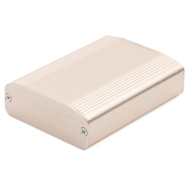 JIUWU Gold Sand Blasting Aluminum Enclosure Electronic Project Box Case for PCB Instrument Amplifier DIY 61x22.4x80mm WxHxL