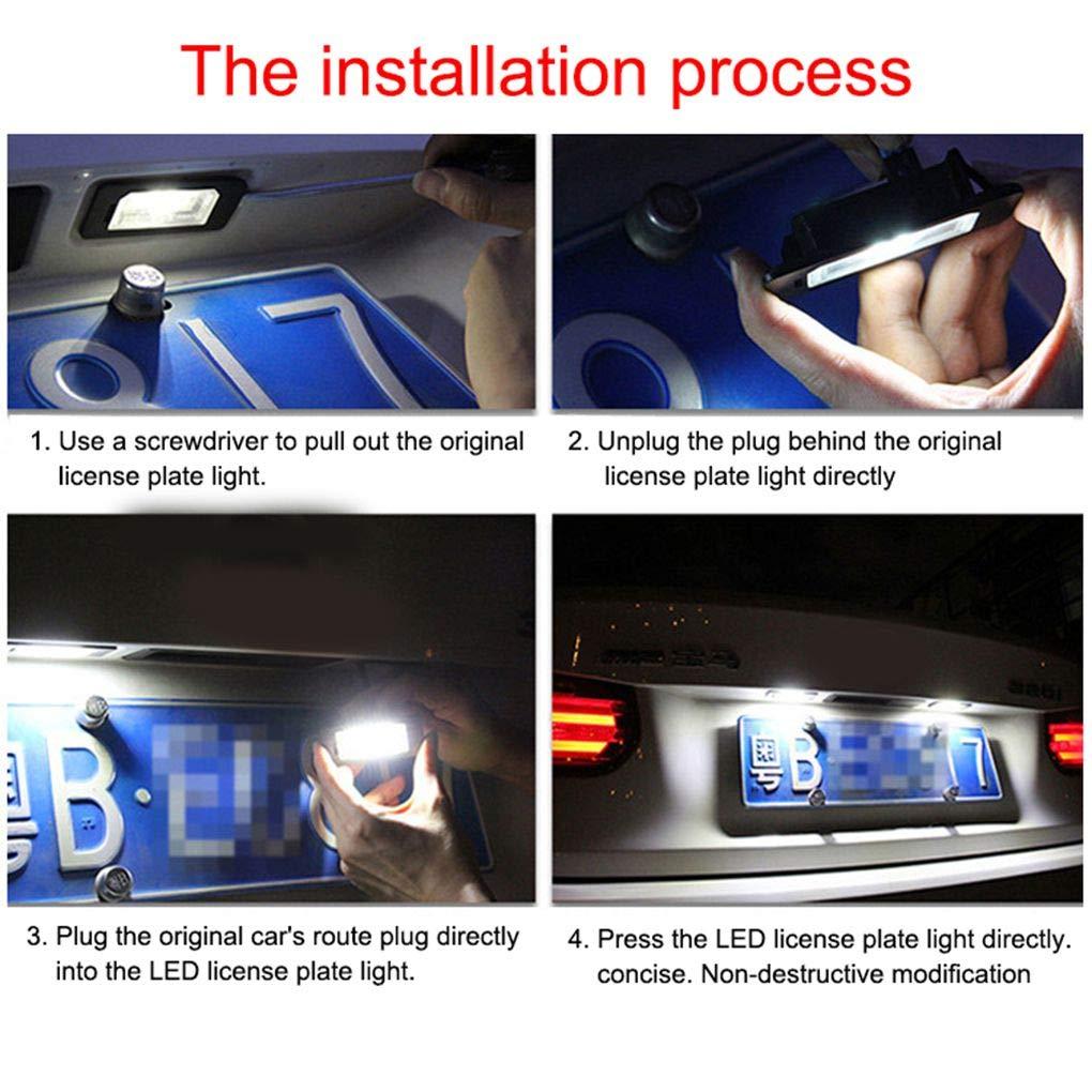 lafyHo 1 Targa 12V LED Coppia di Ricambio Auto Luce per Citroen C3-C5 206//207//307//308//406//407