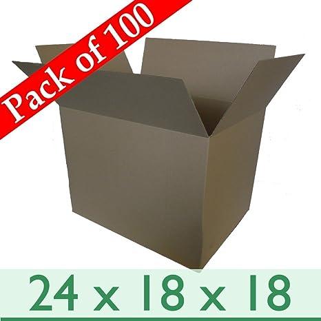 Pack de 100 grandes retirada sola pared de cartón cajas de correo Postal ~ 24 x