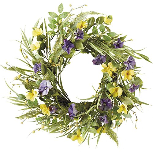 Decorated Wreath (DII Decorative Leaves & Flowers 20