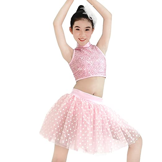 15f07db64270 Amazon.com  MiDee 2 Pieces Sequins Charming Dance Costumes Outfits ...