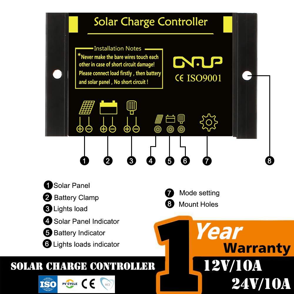 SUNER POWER Waterproof Solar Charge Controller - Intelligent12V/24V Solar Panel Battery Regulator by SUNER POWER (Image #2)