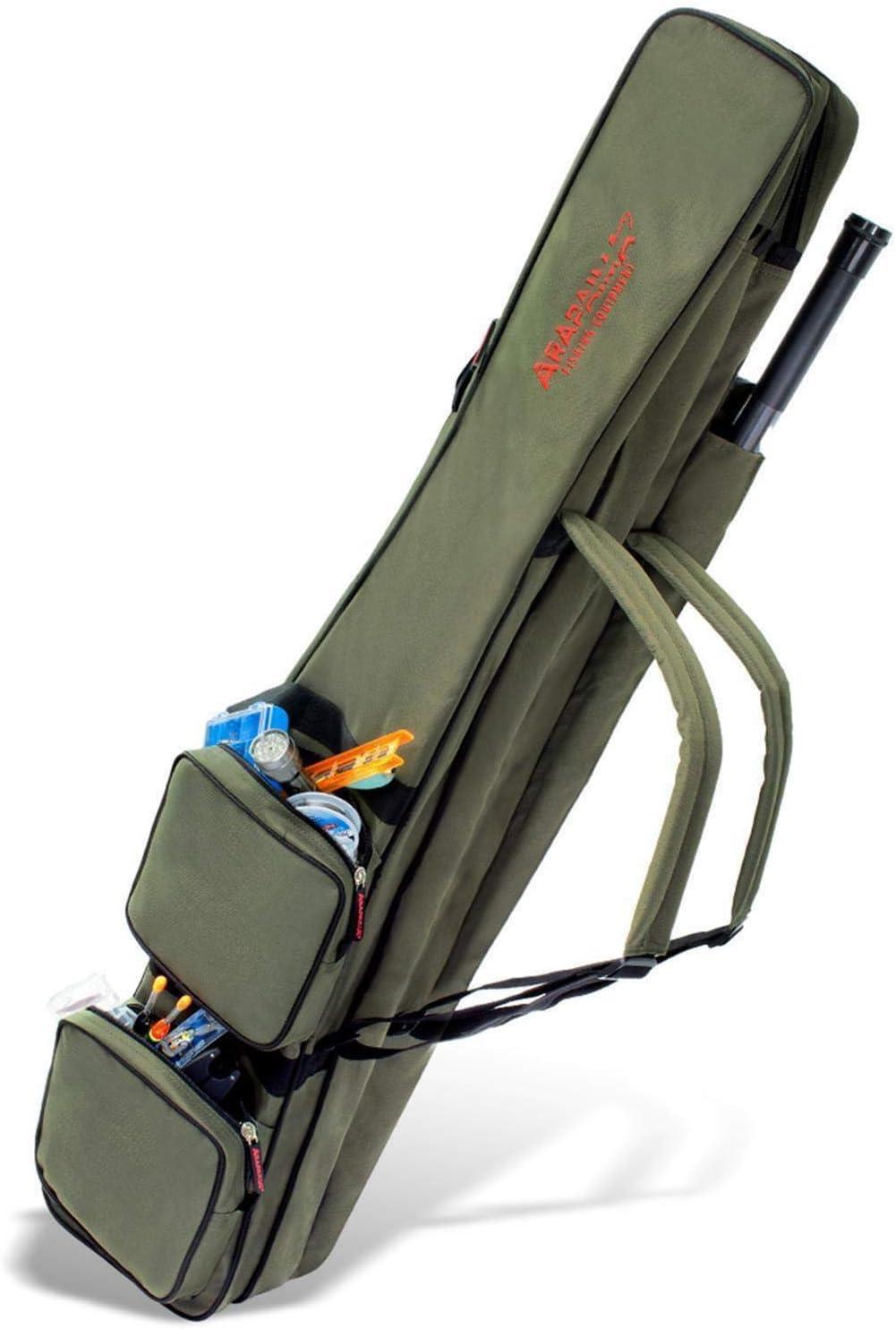 ARAPAIMA FISHING EQUIPMENT Allround Rutentasche Angeln Tasche mit 3 Innenf/ächern f/ür Angelruten Kescher und Rutenhalter
