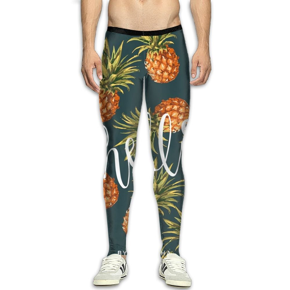 Fri Fruits Pineapple Breathable Compression Pants//Running Tights Cycling Pants Womens Reflective