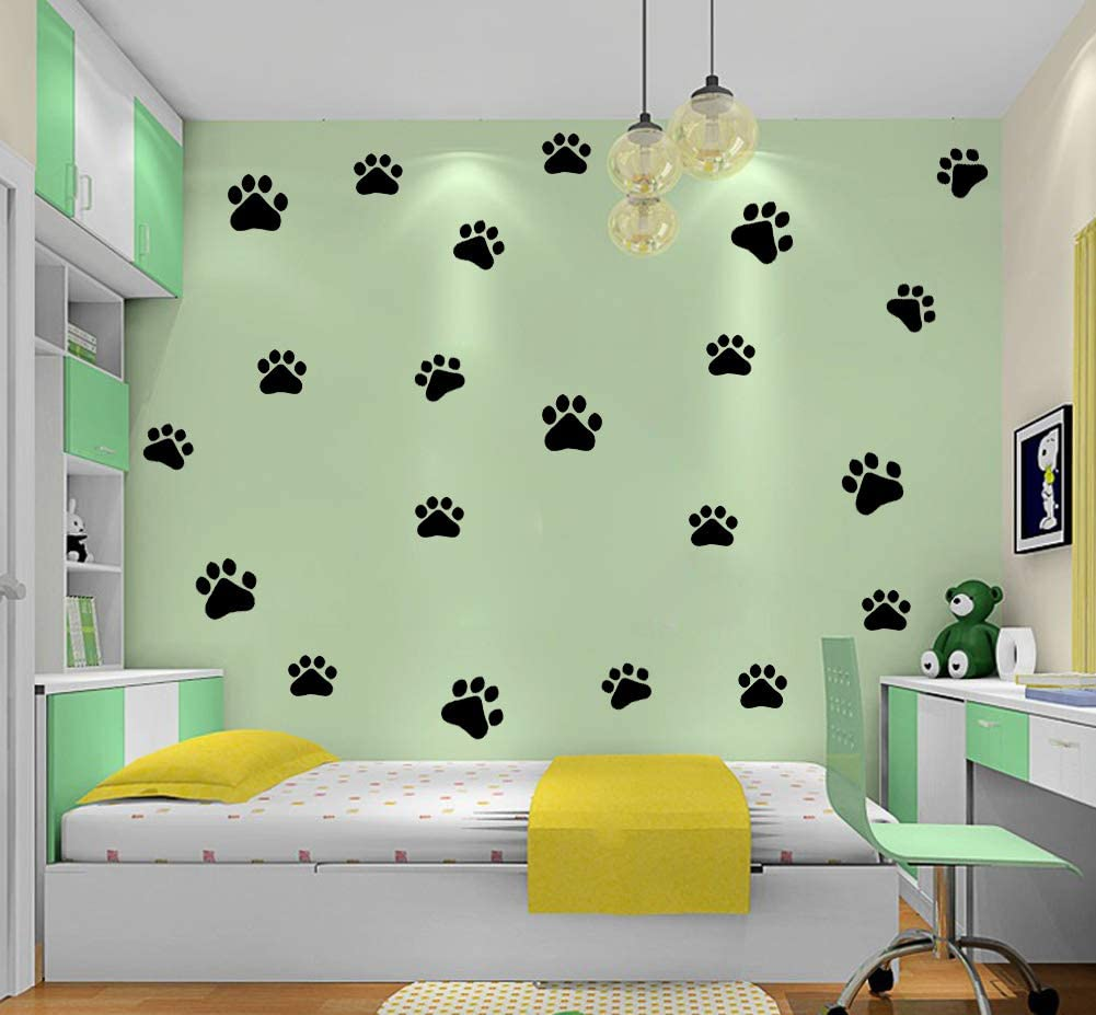 Dog Cat Paw Print Wall Sticker Vinyl Wall Sticker Decoration Décor for Room,Kids Room Decal Sticker