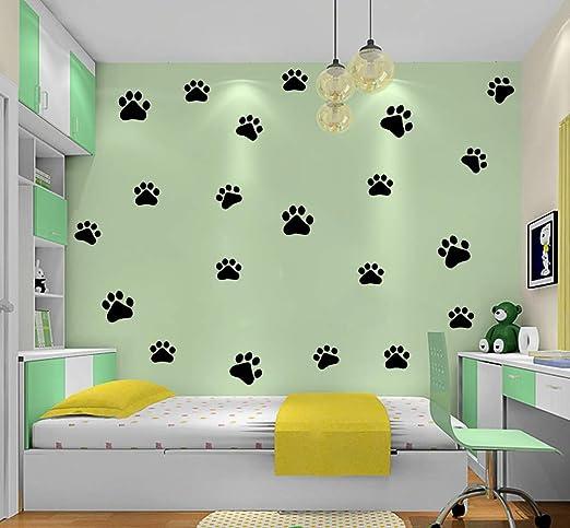 ADECNS Dog Cat Paw Print Wall Sticker Vinyl Wall Sticker Decoration D/écor for Room,Kids Room Decal Sticker