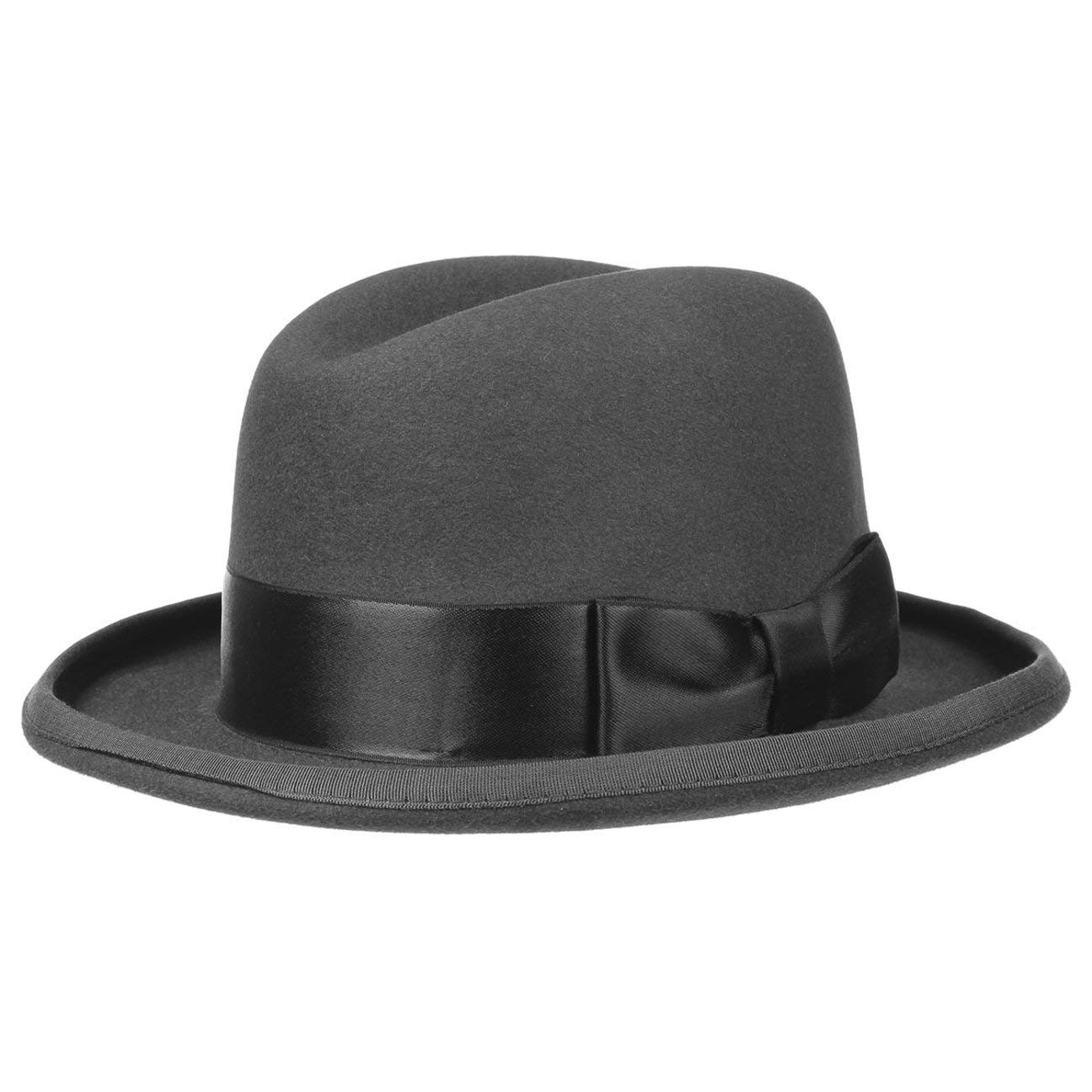 1920s Mens Hats & Caps | Gatsby, Peaky Blinders, Gangster Stetson Saks Homburg Fur Felt Hat Women/Men | Made in The EU Men´s with Lining Grosgrain Band Piping Summer-Winter £139.00 AT vintagedancer.com
