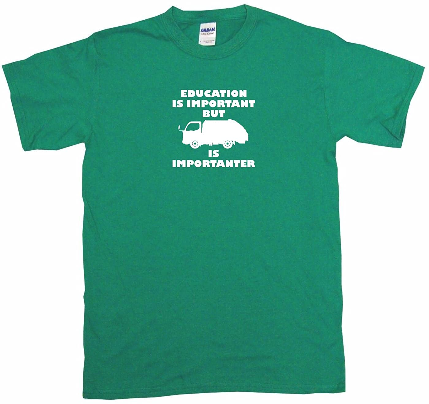 Education Is Important but Garbage Truck Logo Is Importanter Little Boys Shirt