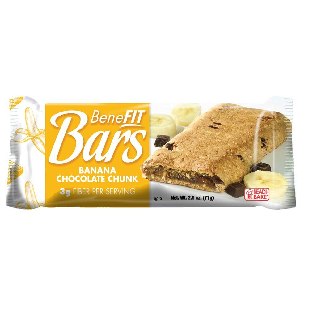 J and J Snack Banana Chocolate Chunk Readi Bake Benefit Breakfast Bar -- 48 per case. by J and J Snack Foods (Image #1)