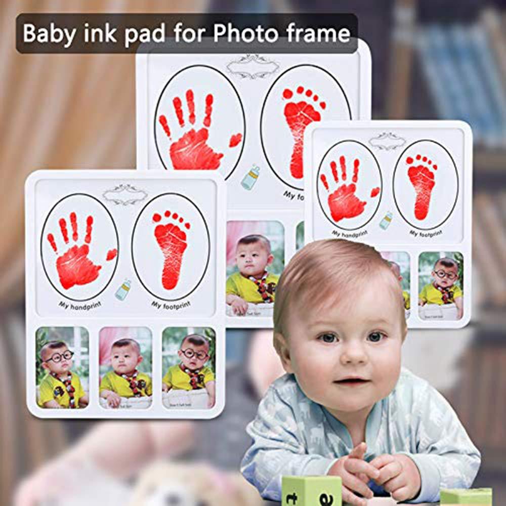 fu/ßabdruck baby stempelkissen.Baby Fu/ß schwarz + rot + blau + Gelb oder Hand-Abdruckset Set,Baby Handabdruck Stempelkissen,Hand Fu/ßabdruck-4pcs Kit
