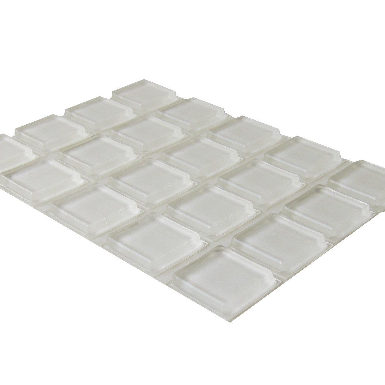 Rubber Feet Adhesive Rubber Pads, 1 Inch Square Self Stick Bumpers, Clear Bumper Pads - 105 Pack