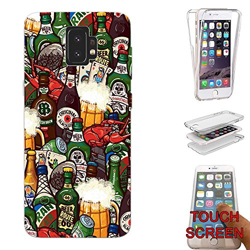 Beer Collage (002739 Beer Retro Vintage Collage Alcohol Samsung Galaxy S9+ Plus CASE Gel Rubber Silicone Complete 360 Degrees Protection Case Cover)