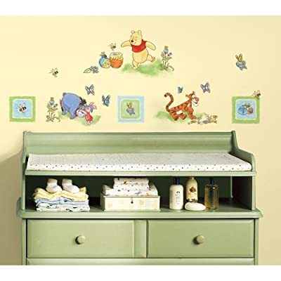 New Winnie The Pooh Wall Decals Baby Nursery Or Kids Bedroom Stickers Bear Decor: Kitchen & Dining