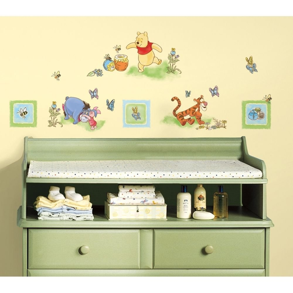 Amazon.com: New Winnie The Pooh Wall Decals Baby Nursery Or Kids ...