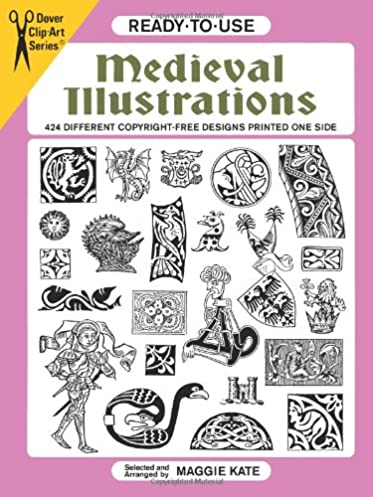 ready to use medieval illustrations 424 different copyright free rh amazon com dover clip art construction dover clip art silhouettes