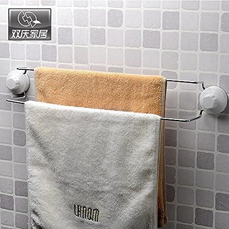 SYDLJ bathroom rack Baño Baño Toallas para rack rack doble barra de palanca palanca de toallas de baño baño sanitario de acero inoxidable colgador de ...