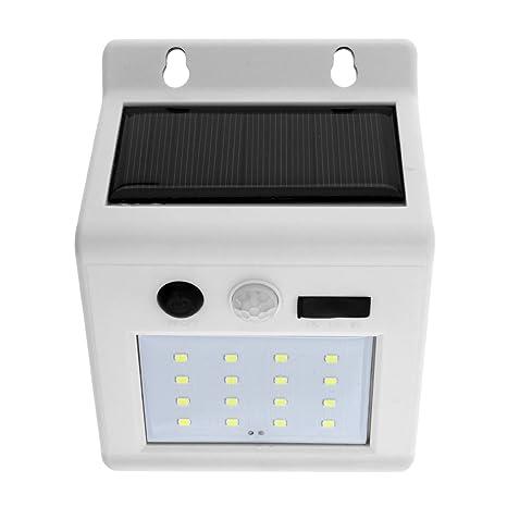 SecurityIng 16 LED funciona con energía solar lámpara de pared, resistente al agua Sensor de