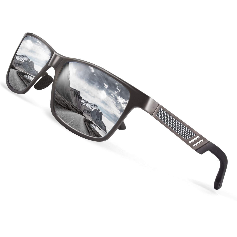 8f4c7ac5cd CGID Polarised Sunglasses Black Cat 4 Lenses Full UV400 Protection Sun  Glasses for Men FBAMJ60-1