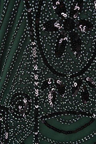 Vestito Flapper Art Paillettes Di Stile Cocktail 1920 Prettyguide In Donne Deco Gatsby Verde Perline Delle UqrvwUfxa
