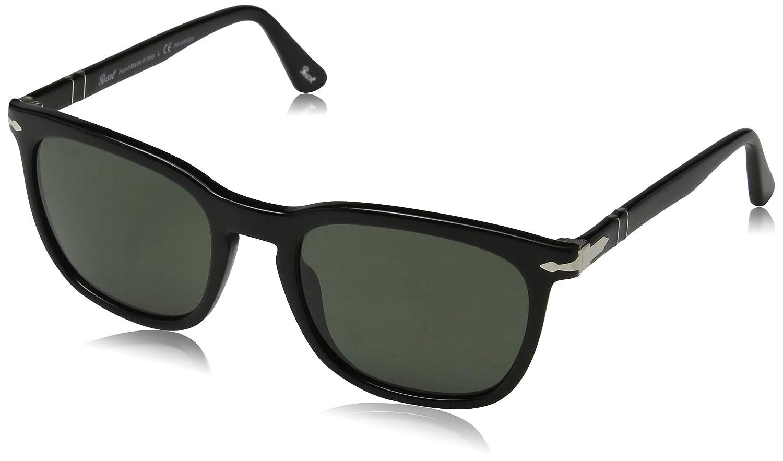 463ae7fa6d Amazon.com  Persol Mens Sunglasses Black Green Acetate - Non-Polarized -  55mm  Persol  Clothing
