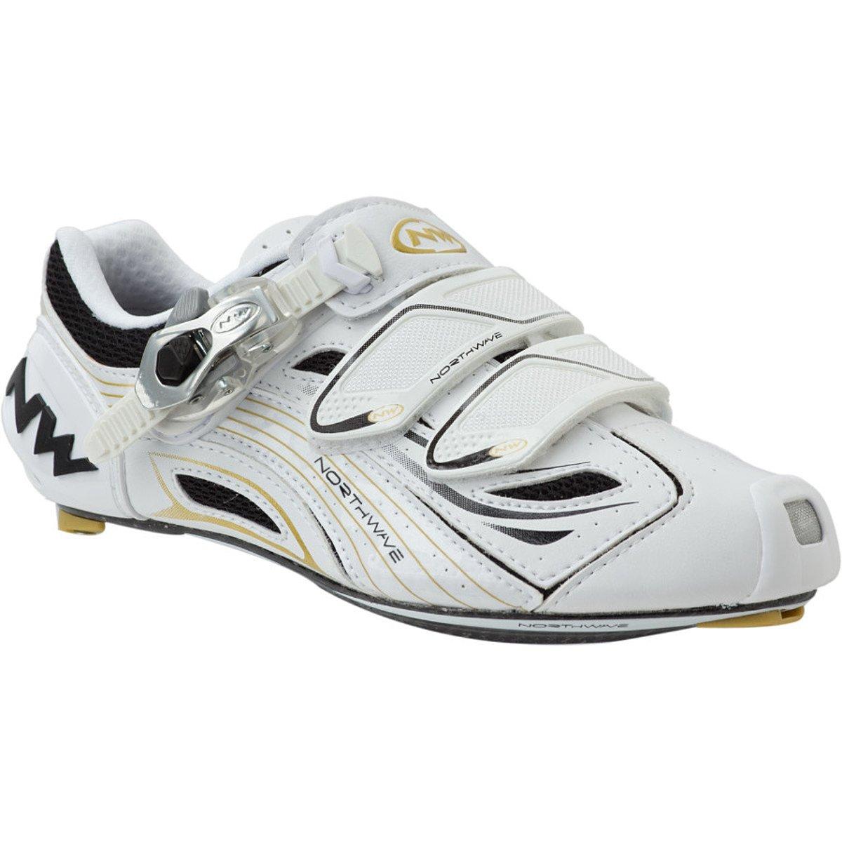 [Northwave] ノースウェーブTyphoon Women 's Road Cycling Shoesホワイト/ブラック/ゴールド 36 ホワイト/ブラック/ゴールド B006QXNI36