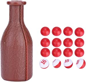 Details about  /Billiard Kelly Pool Shaker Bottle With 16 Numbered Tally Balls Peas Marbles