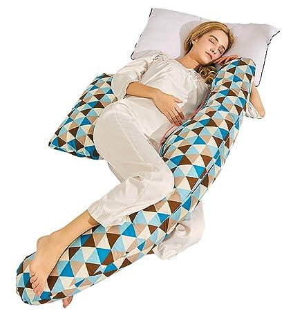 TINGTING Cojin Lactancia Bebe & Almohada Embarazo Dormir U ...