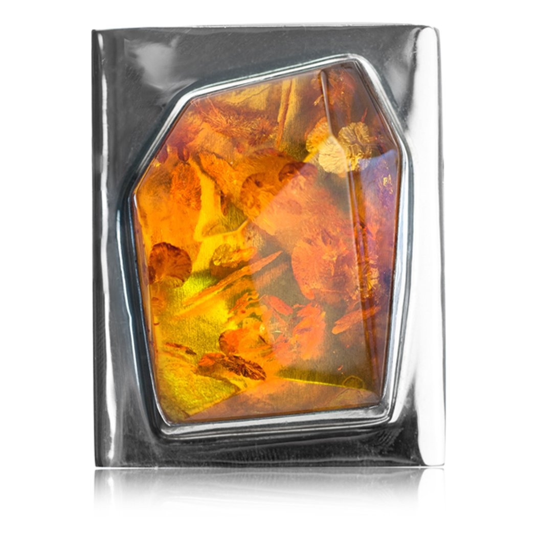 Sterling Silver Amber Graceful Belt Buckle