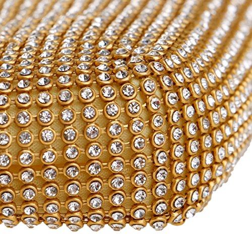 Cerimonia Portafoglio Pochette Donna Partito Gold Borsetta Borsa Oro Eleganti Sposa Spalla Frizioni Sera XqBq4