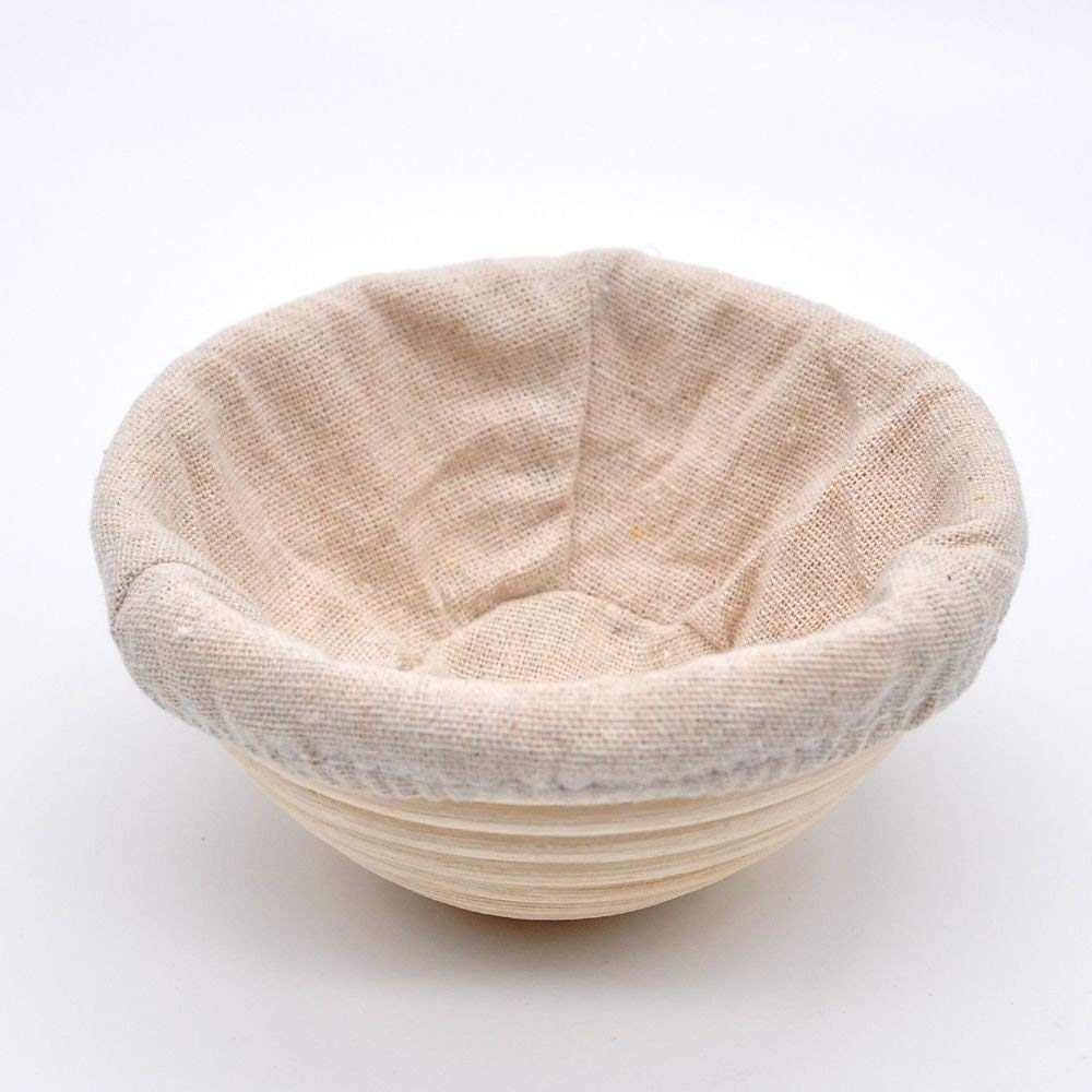 Professional Round Handmade Banneton Bread Proofing Basket (8 inch 2pcs) by UPHAN (Image #4)