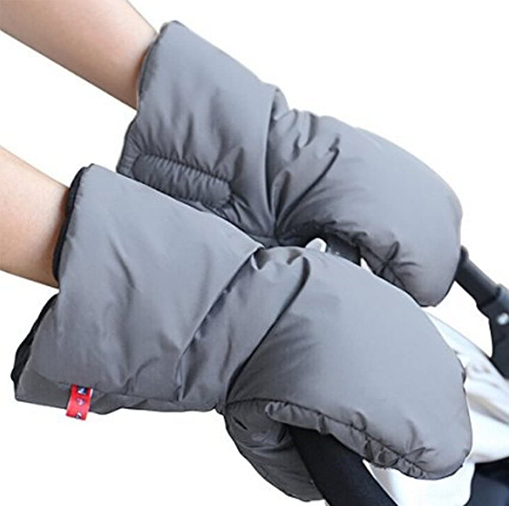 Baby Carriage Hand Cover-Baby Stroller Hand Muff- Waterproof Anti-freeze Extra Thick Warm Winter Stroller Accessories Keephen