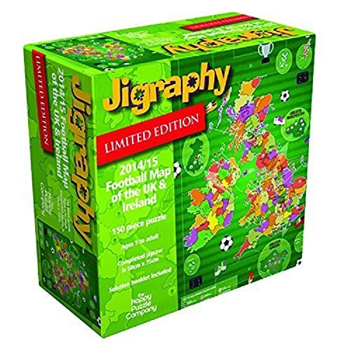 Jigraphy 2014/15 Football Map Jigsaw by The Happy Puzzle Company