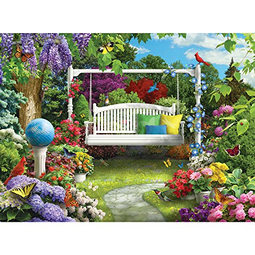 Bits and Pieces - 300 Large Piece Jigsaw Puzzle for Adults - Nature Sings to Me III, Birds in Flower Garden - by Artist Alan Giana - 300 pc Jigsaw