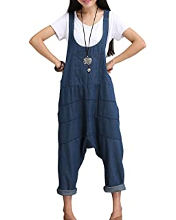 ShiFan Femme Harem Salopette Combinaison Sarouel Grande Taille Jumpsuit  Casual… ff91f62ef01c