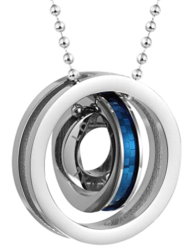 a9aea7a9cc60 Amazon.com: ANAZOZ Stainless Steel Necklaces, Women's Chain Pendant ...