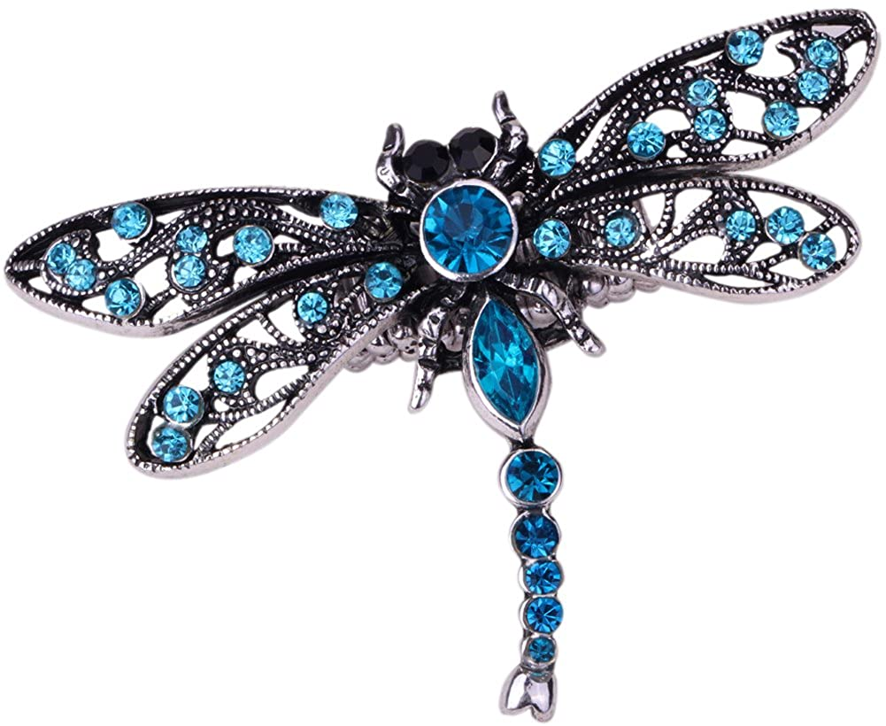 Szxc Womens Dragonfly Brooch Pin Crystal Costume Jewelry