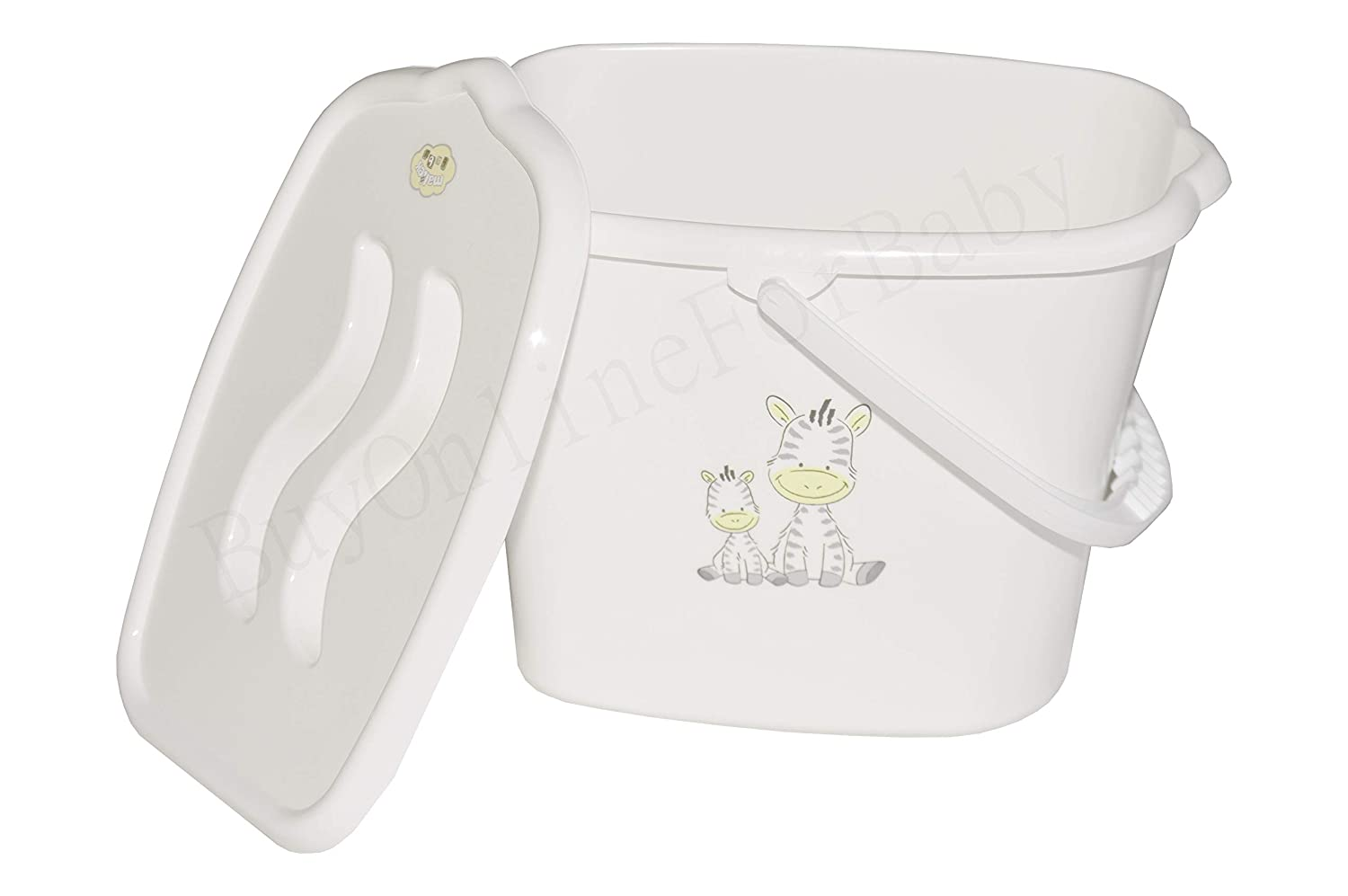 Baby Nappy Changing Dispose Laundry Bin Bucket Storage Container Lid White osigukltd 125