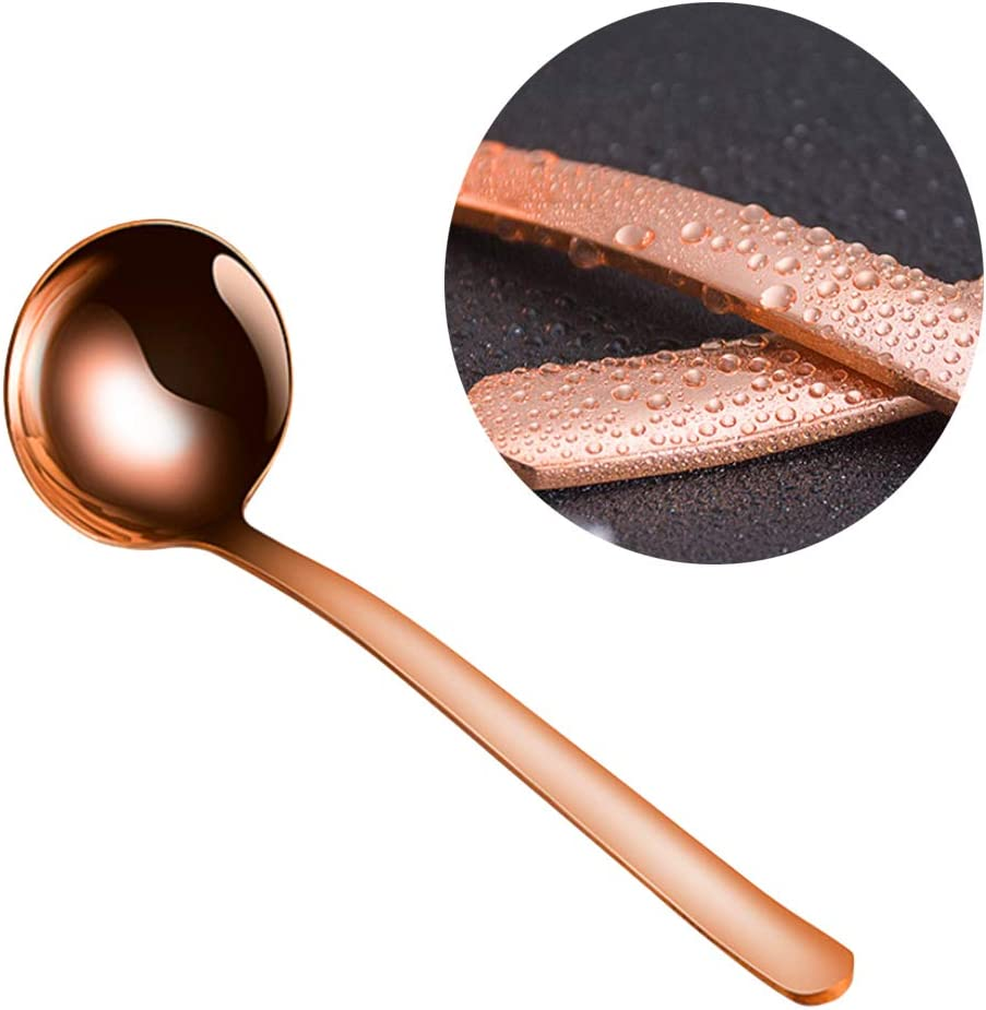 Creative Red Copper Soup Ladle Kitchen Thicken Handle Cooking Ladle Spoon Mixing Spoon