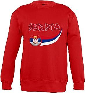 Supportershop 8Sweatshirt Serbia 8Unisex Bambino, Rosso, Fr: L (Taglia Produttore: 8Anni)
