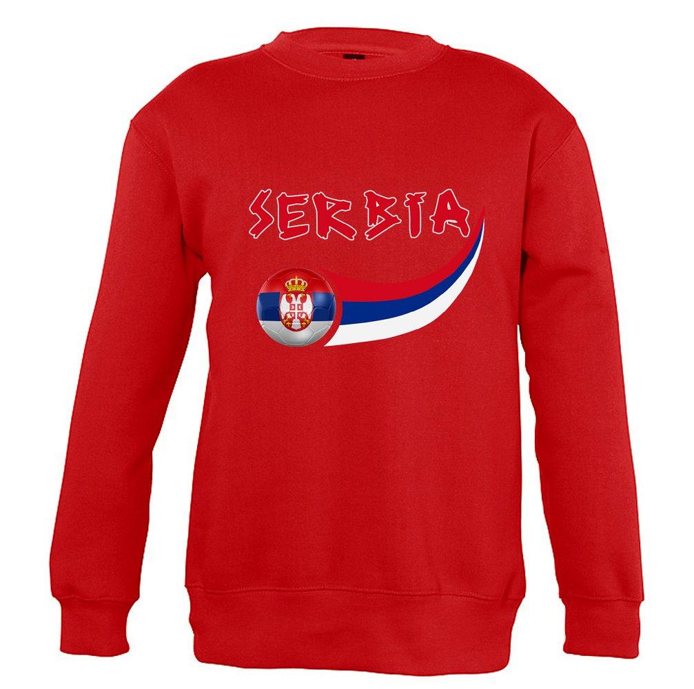 Supportershop Sweatshirt Serbien Unisex Kinder SUPQM|#Supportershop