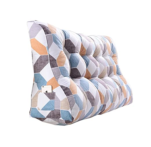 RFJJAL Cama Doble cojín Triangular/Cintura Almohada sofá ...