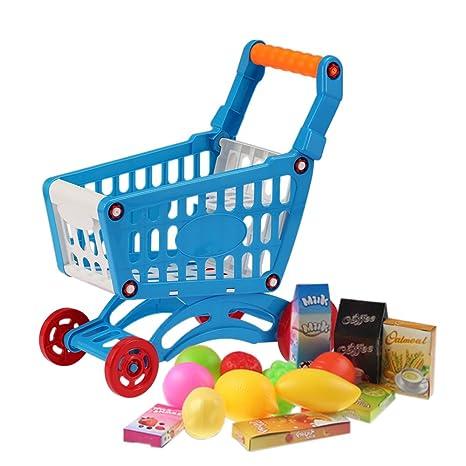 Goolsky Coolplay Carrito de Compras Pequeño de Supermercado Carretón Juguetes para Niños Almacenamiento