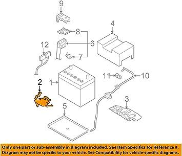 amazon.com: genuine nissan parts - bracket-battery (64866-em30a): automotive  amazon.com